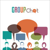 Group chat royalty free illustration