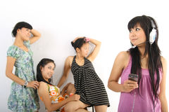 Group cheerful Stock Photos
