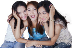 Group of cheerful Asian teenage girls Stock Photography