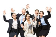 Group of cheerful executives Royalty Free Stock Images