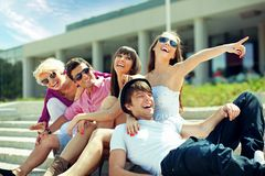 Group of cheerful friends Stock Images