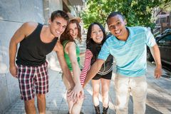 Group of cheerful friends. Royalty Free Stock Photos