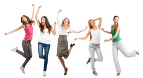 Group of cheerful girls Royalty Free Stock Photo