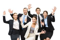 Group of cheerful managers Stock Photography