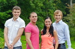 Group of cheerful students Royalty Free Stock Image