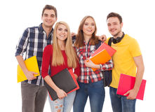 Group of cheerful students Stock Images