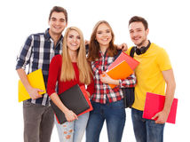 Group of cheerful students Royalty Free Stock Photos