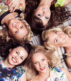 Group of cheerful woman. Bachelorette. Group of cheerful beautiful woman. Bachelorette Stock Image