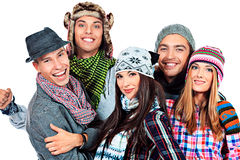 Hats and scarfs Royalty Free Stock Images