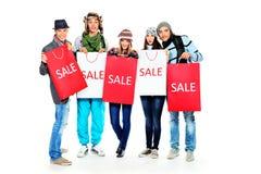 Winter sale Stock Photos