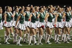 Group of Cheerleader on Green Field Royalty Free Stock Photos