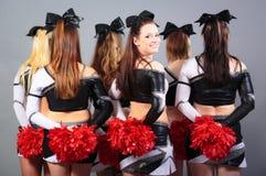 Group Of Cheerleaders Stock Photos