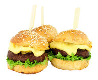 Group Of Cheeseburger Sliders Stock Images