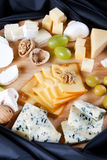 Group of cheeses stock images
