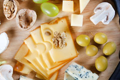 Group of cheeses Stock Photos