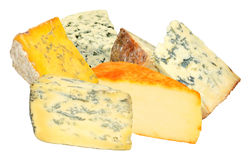 Group Of Cheeses Royalty Free Stock Images