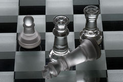 Group of chess pieces Stock Photo