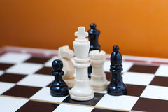 Group of chess pieces Royalty Free Stock Photography