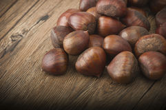 Group of chestnuts Royalty Free Stock Images