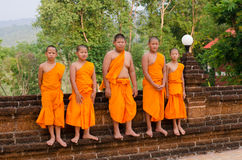 A group of chid monks Stock Photos