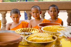 A group of chid monks Stock Image
