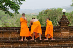 A group of chid monks Royalty Free Stock Images