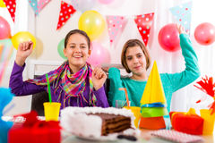 Group of child happy birthday party. Selective focus stock photography