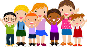 Group of children royalty free illustration