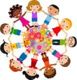 Group of children. Illustration art Stock Images