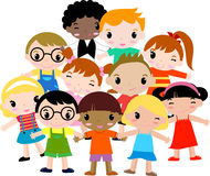 Group of children. Illustration of group of children Stock Photography