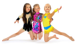 Group of children acrobats Stock Image