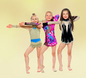 Group of children acrobats Royalty Free Stock Image