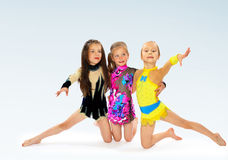 Group of children acrobats Stock Photography