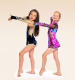 Group of children acrobats Royalty Free Stock Photo