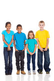 Group of children. In bright t-shirt isolate on white background royalty free stock photography