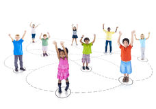 Group children Childhood Community Joyful Concept Royalty Free Stock Photo