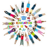 Group of Children Circle and Education Concept Stock Photo