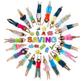 Group of Children Circle Financial Issue Royalty Free Stock Photo