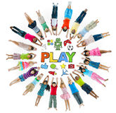Group of Children in Circle and Play Concept Stock Image