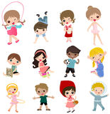 Group of children collection Royalty Free Stock Image