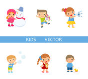 Group of children collection Royalty Free Stock Images