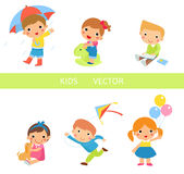 Group of children collection Stock Image
