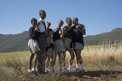 Group of children in the countryside South Africa Stock Photography