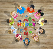 Group of Children With Different Activities Royalty Free Stock Photo