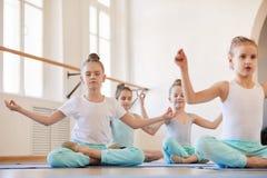 Yoga for Kids stock photography