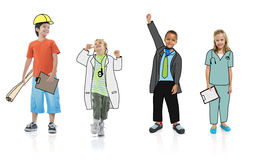 Group of Children in Dreams Job Uniform Concept Stock Illustration