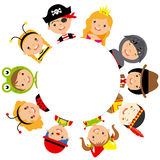 Group of children dressed Stock Image