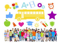Group of Children and Education Concept Stock Photo