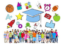 Group of Children and Education Concept Royalty Free Stock Images