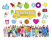 Group of Children and Education Concept Stock Images